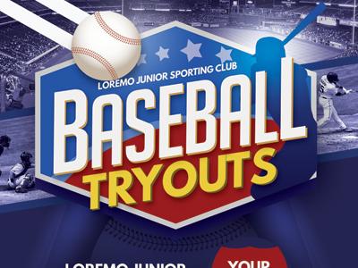 baseball tryouts flyer templates by kinzi wij dribbble dribbble