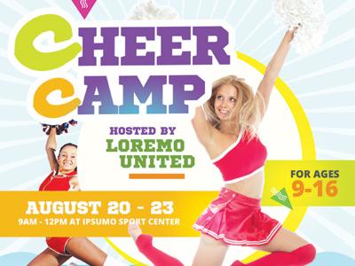 cheer camp flyer templates by kinzi wij dribbble dribbble