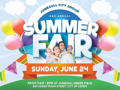Summer Fair Flyer Templates By Kinzi Wij Dribbble
