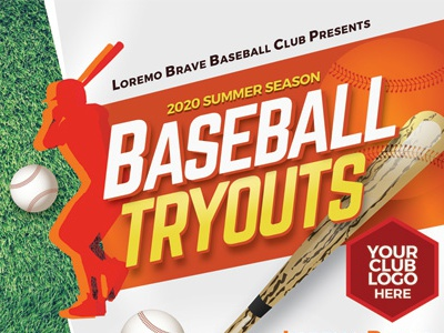 Baseball Tryouts Flyer Templates tryouts tryout tournament team sport softball league game flyer camp baseball ad