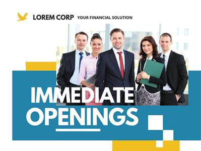 Job Vacancy Flyer Templates vacant vacancy staff opening job fair employment career agent agency advert ad