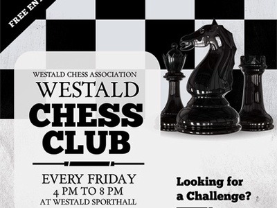 Chess Club Flyer Templates training tournament sport poster play game flyer competition club chess championship ad