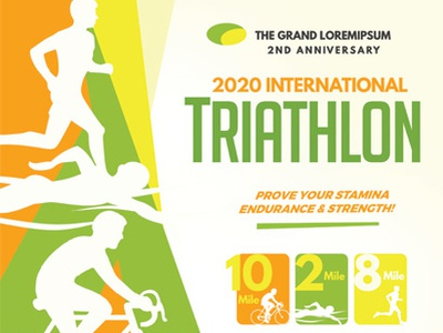 Triathlon Event Flyer Templates sport running marathon magazine flyer duathlon cycling championship bike bicycle athletic ad 5k