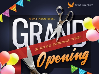Grand Opening Flyer Templates store shop sale promotion product poster pamphlet opening now open new grand flyer electronics commerce coming soon bridal ad