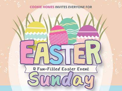 Easter Sunday Flyer Templates illustration vector fun games ad pamphlet leaflet flyer spring egg hunt party night day sunday easter