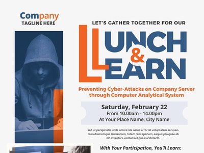 Lunch & Learn Event Flyer Templates flyer ad corporate business clinic training aed first aid cpr invitation seminar workshop event learn lunch