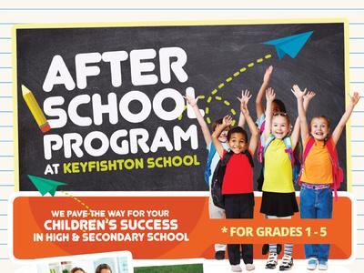 After School Program Flyer Template training poster pamphlet learning center leaflet kids flyer children care back to school after-school after advert ad