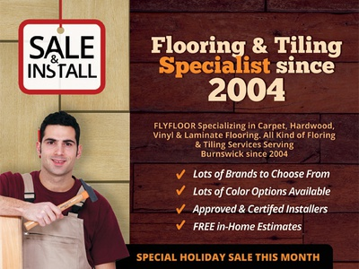 Flooring & Tiling Company Flyer Templates