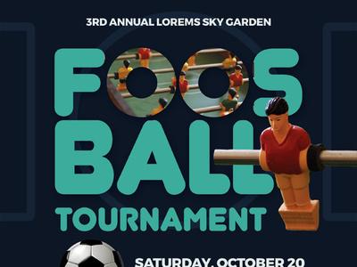 Foosball Tournament Flyer Templates flyer ad camp league championship games team football soccer table foosball