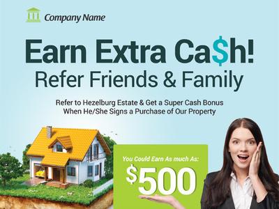 Referral Program Flyer Templates network affiliate ads ad commission flyer refer-a-friend rewards employee customer marketing program referral