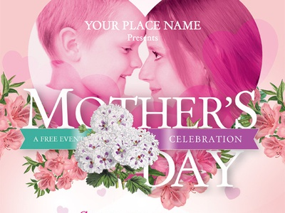 Mother's Day Flyer Templates ads ad flyer woman love celebration festival church brunch party night day mother