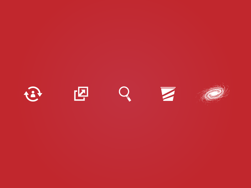 Freebie - multipurpose vector icons freebie icon icons red web mobile user personal links search bucket galaxy