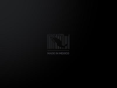 Made In Mexico Logo made mexico logo code bars black elegant mark map
