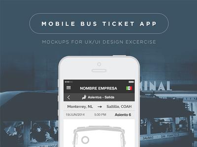 Bus Ticket App bus ticket app mobile phone responsive ui ux sell buy