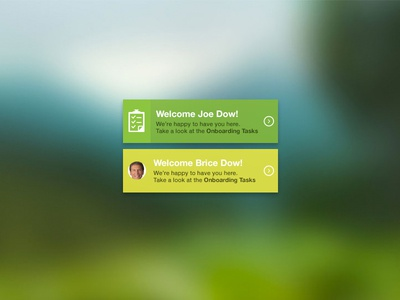 Welcome Widget (2 versions) - freebie freebie widget welcome icon green picture user tasks check