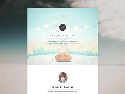 My Personal Website personal website portfolio web page onepage template single simple dali designer developer