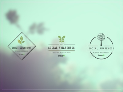 Social Awareness Movement Logo logo design social awareness movement community base22 ecology tree responsability