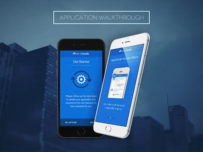 Application Walkthrough app walkthrough ios android tutorial visual guide blue configuration steps