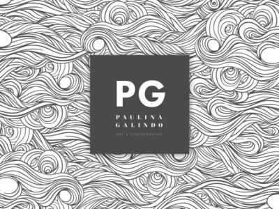 Paulina Galindo's new logo dark minimal simple design photography art logo paujitas paujas galindo paulina