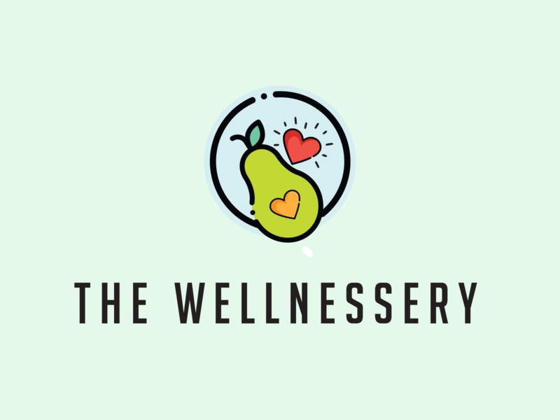 The Wellnessery - Logo website vector avocado health business logo design logo