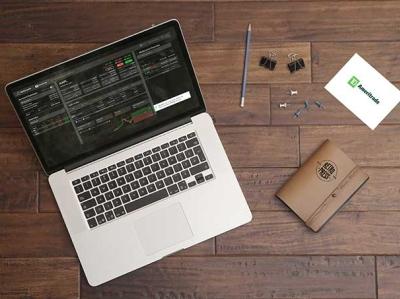 Trading Portal web design web dark tda trading trading platform