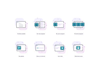 Empty state Icons (TINA-Platform) illustration figma figmadesign interface ui