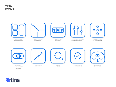 Tina website icons icon design figma interface ui design