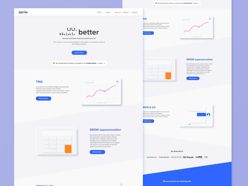GROW website redesign figma illustration interface ui design