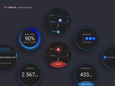 Galaxy Watch E-Bike UI e-bike samsung gear wearable bicycle figma interface ui design
