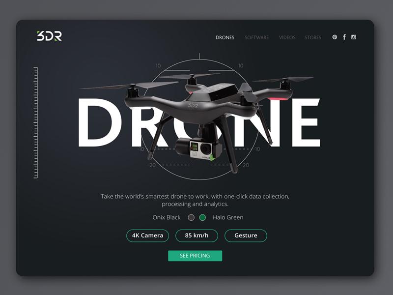Drone Web Interface interface web design ui