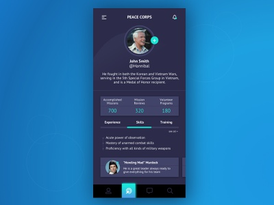 User Profile 006 daily ui 006 daily ui daily 100 challenge profile design design sketch ui interface