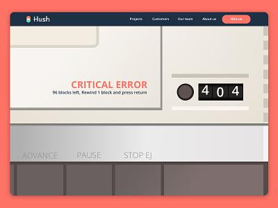 404 retro error daily ui 008 atari sketch ui 404 page
