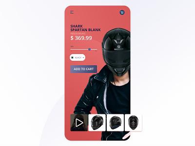 E-commerce Motorbike helmets daily ui 012 e-commerce app motorcycle sketch interface ui design