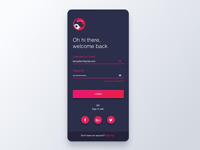 Mountain Fox - app login sketch design login user inteface ui