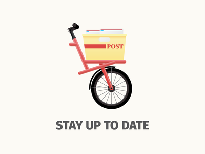 Stay up to date icon vector bicycle illustrator design