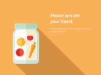 Food Storage Tips - Mason jars are your friend