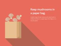 Food Storage Tips - Keep mushrooms in a paper bag