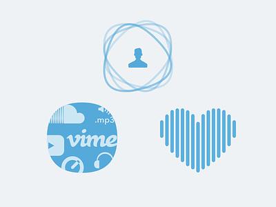 Features social share favorite vimeo headphones marketing soundcloud youtube molecule mp3 quicktime waveform