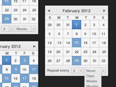 Recurring Stuff recurring calendar ui