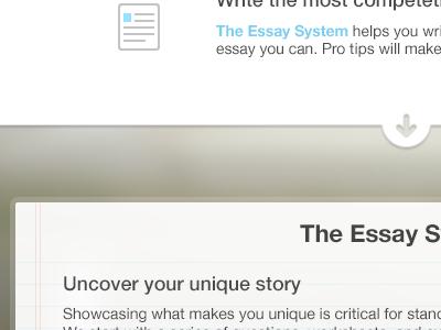 The Essay paper marketing web icon blur registration informational splash