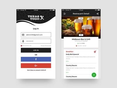 Texas Togo App adobephotoshop design android ios mobileapp apptunix