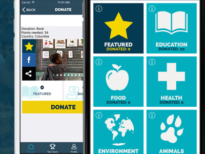 Donation App java xcode ux donationapp android ios photoshop mobileapps dribbble apptunix