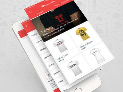 Teedesign Shop ui deals illustrator adobephotoshop t-shirtdesigns e-commerce trending apptunix ios mobileapp