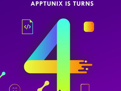 Apptunix Fourth Anniversary celebrating company team teamwork anniversary fourth apptunix