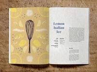 Home Italian Cookbook Lemon Ice Recipe Spread