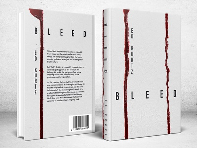 Bleed white horror blood minimalist minimal book cover design book cover