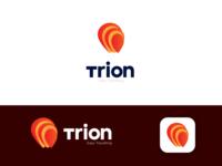 Trion. Traveling app logo design.