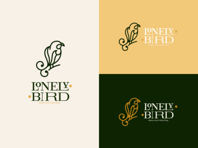 Lonely Bird, Bakery and coffee shop branding