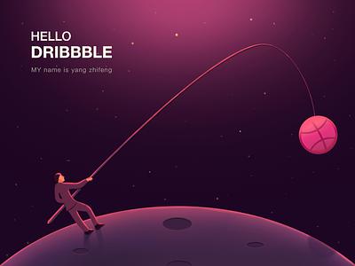Hello, Dribbble! - 05/29/2018 at 09:10 AM design illustration ps