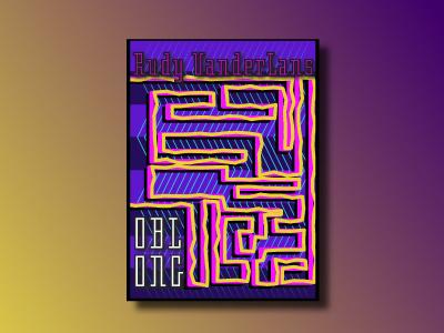 Oblong Font Poster Design / Font Design Rudy VanderLans emigre design poster font oblong